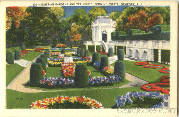 Venetian Gardens And Tea House Newport Rhode Island