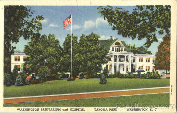 Washington Sanitarium And Hospital, Takoma Park District of Columbia