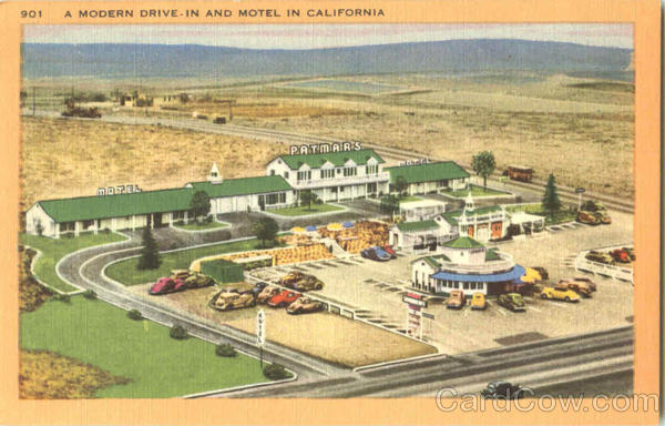A Modern Drive In And Motel In California