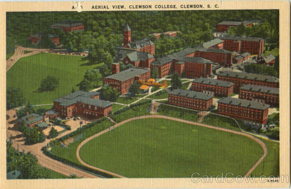 aerial view clemson college