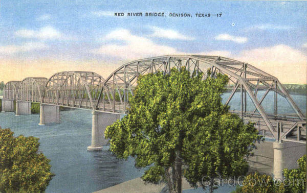 Red River Bridge Denison Texas
