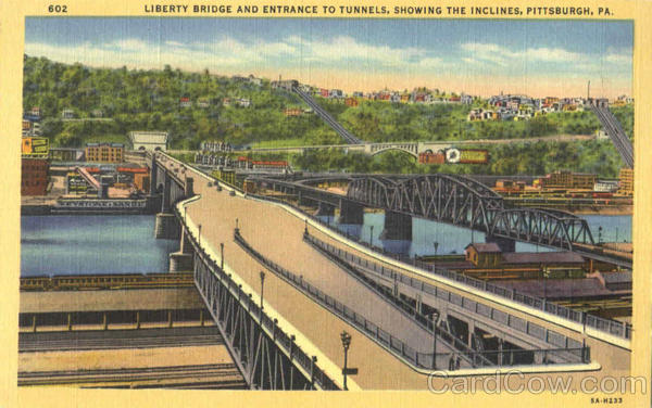 Liberty Bridge And Entrance To Tunnels Pittsburgh Pennsylvania