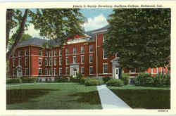 Edwin S. Bundy Dormitory, Earlham College Postcard