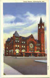 Union Station From Liberty Memorial Postcard