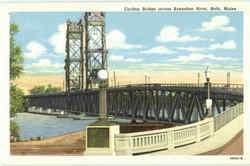 Carlton Bridge Across Kennebec River