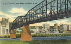 Skyline Showing Steel Bridge