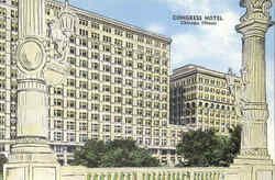 Congress Hotel Postcard