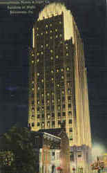 Pennsylvania Power & Light Co., Building At Night