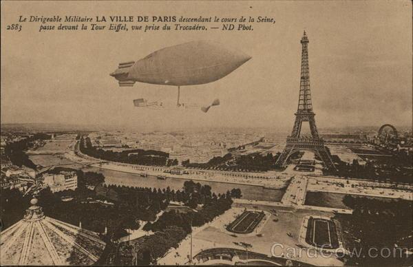 Le Dirigeable Militaire, Eiffel Tower