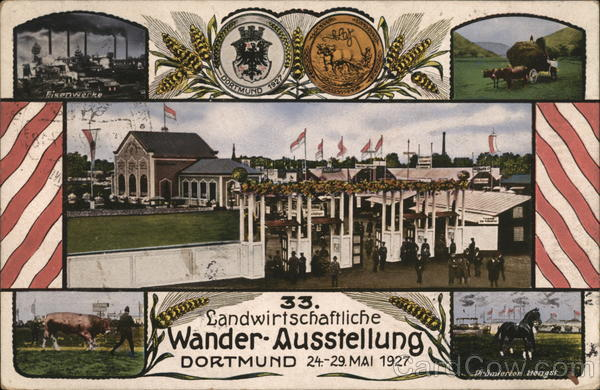 33rd Agricultural Exhibition Dortmund Germany Commemorative Cancels
