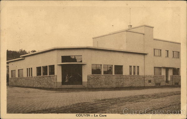 Railway Station Couvin Belgium Benelux Countries Depots