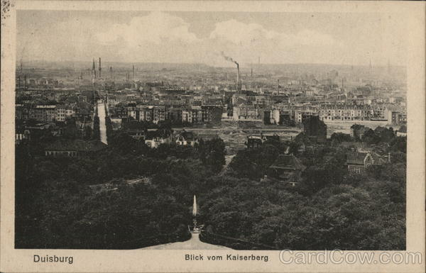 View From Kaiserberg Castle Duisburg Germany