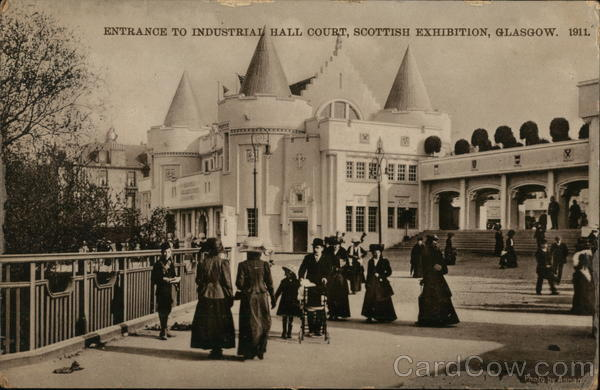 Scottish Exhbition, Glasgow 1911 - Entrance to Industrial Hall Court