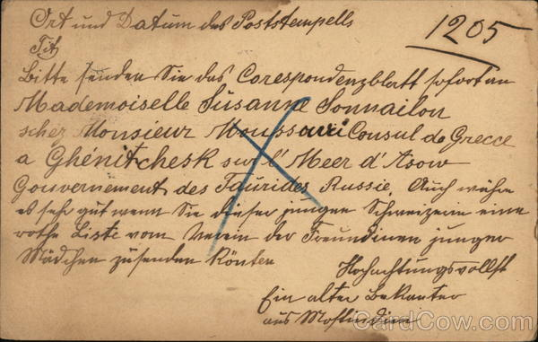 Correspondence from Russia to Germany Interesting Cancels