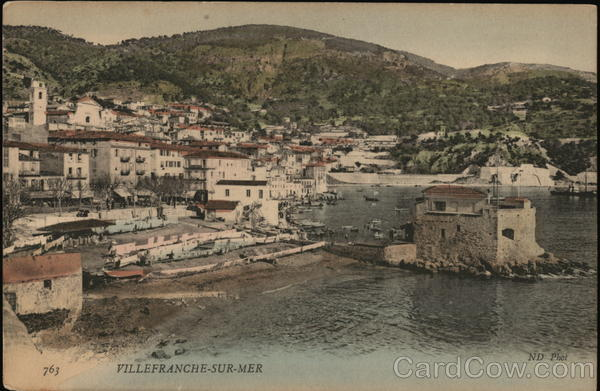 View of Town and Harbor Villefranche-sur-Mer France