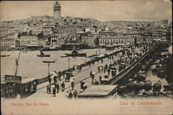 Galata Bridge Constantinople