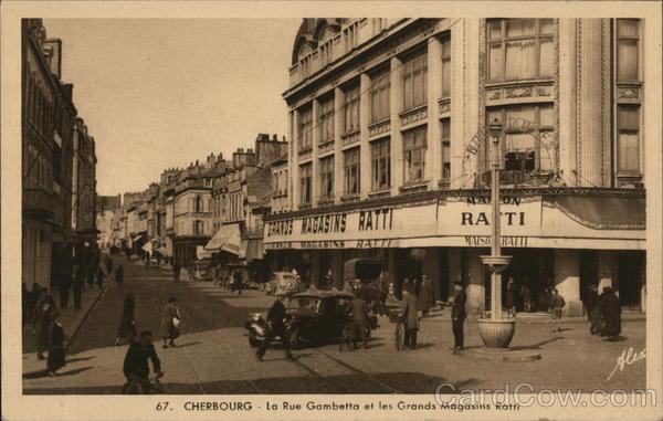 La Rue Gambetta et les Grands Magasins Ratti