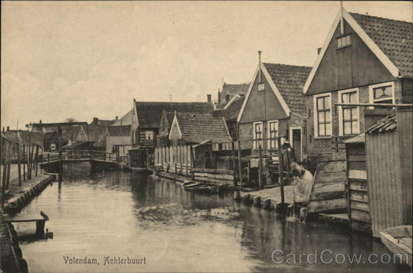 A Neighborhood Volendam Netherlands Benelux Countries