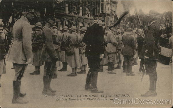 The national celebration, 14th of July 1919. Paris France