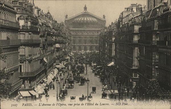 L'Avenue de L'Opera from L'Hotel du Louvre