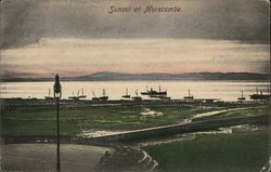 Sunset at Morecambe Postcard