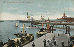 Portsmouth Harbour and Dockyard Postcard