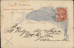Handwritten correspondence from Brazil to Germany, 1894 Postcard