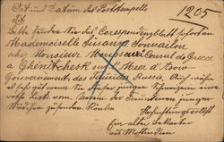 Correspondence from Russia to Germany