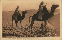 Meharists traverse the dunes Postcard