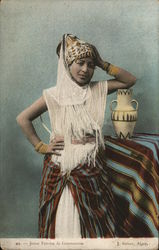Young woman from Constantine Postcard