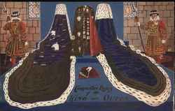 Coronation robes of the King and Queen in the Tower of London