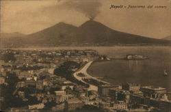 View over City towards Mount Vesuvius