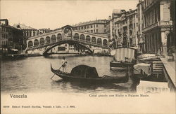 Grand Canal, Rialto Bridge and Palazzo Manin