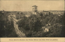 View of Villa Malta (residence of Prince Buelow) from the Eden Hotel