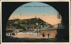 Monte Igueldo from Tunnel Postcard
