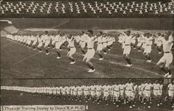 Physical Training Display by Depot K.A.M.C. Postcard