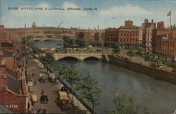 River Liffey and O'Connell Bridge