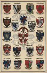 Coats of Arms of the Colleges of Cambridge University Postcard