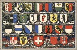 Swiss Coats of Arms Postcard