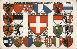Coats of Arms of the Swiss Cantons Postcard