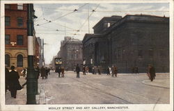 Mosley Street and Art Gallery Postcard