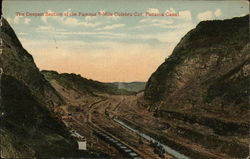 The deepest section of the famous 9-Mile Culebra Cut - Panama Canal