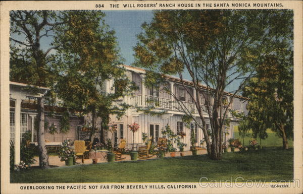 The Will Rogers' House Beverly Hills California