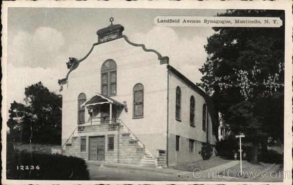 Landfield Avenue Synagogue Monticello New York