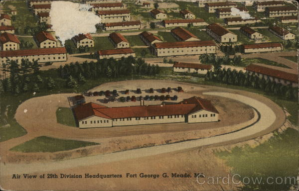 Air View of 29th Division Headquarters, Fort George G. Meade Odenton Maryland