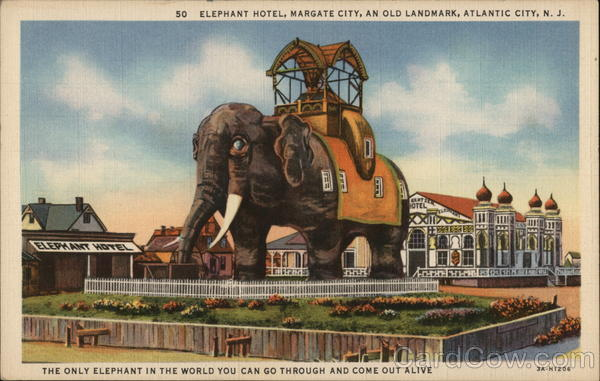 Elephant Hotel, Margate City, an Old Landmark Atlantic City New Jersey