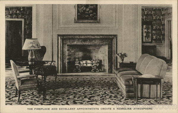 The Dearborn Inn - The Fireplace and Excellent Appointments Create a Homelike Atmosphere Michigan