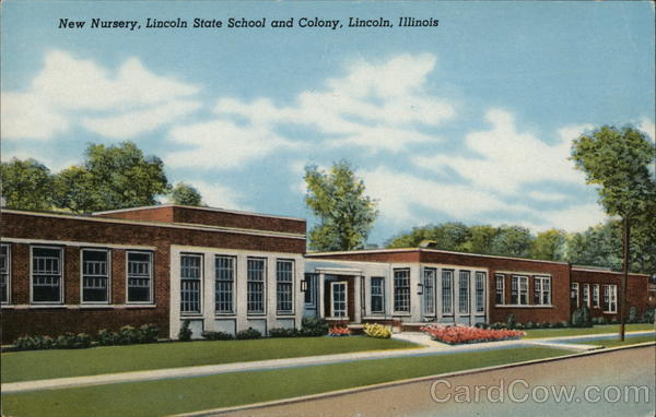New Nursery, Lincoln State School and Colony Illinois