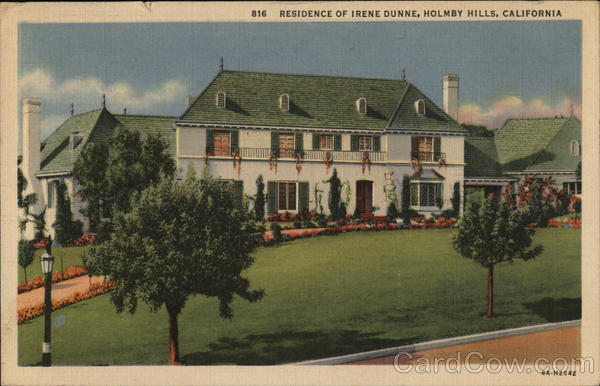 Residence of Irene Dunne, Holmby Hills Los Angeles California