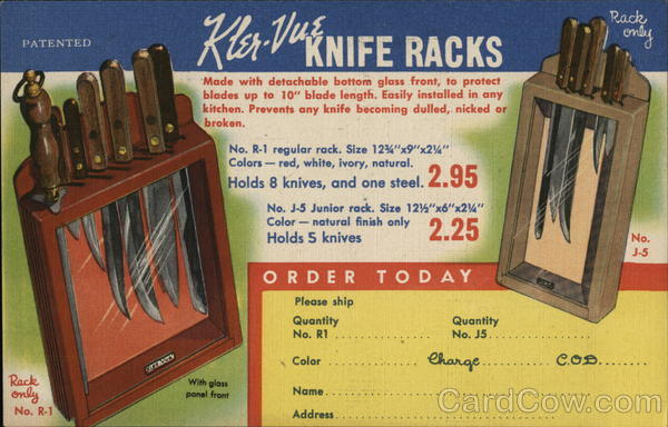 Kler-Vue Knife Racks Advertising